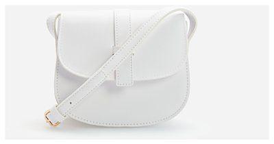 Reserved - Mała torebka listonoszka - Biały