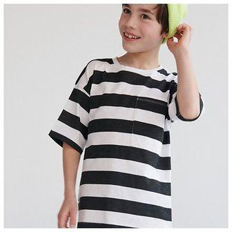 Reserved - Bawełniana koszulka w paski - Czarny