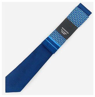 Reserved - Żakardowy krawat z poszetką - Niebieski
