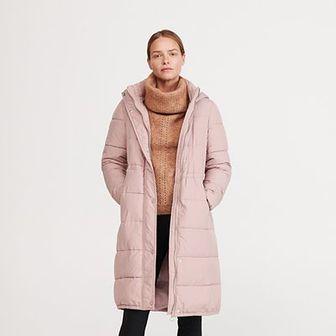 Reserved - Pikowany płaszcz - Różowy