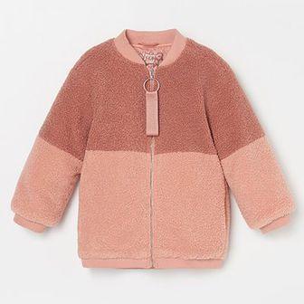 Reserved - Futrzasta kurtka - Różowy