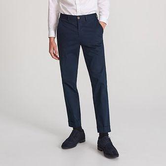 Reserved - Bawelniane spodnie chino - Granatowy
