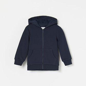 Reserved - Bluza z kapturem - Granatowy