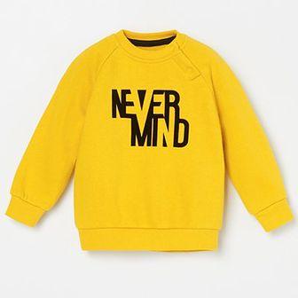 Reserved - Bluza z napisem - Żółty