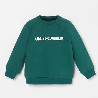 Reserved - Bluza z napisem - Zielony