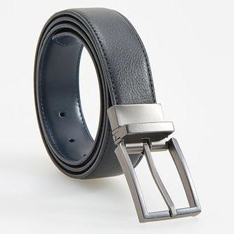 Reserved - Pasek z metalową klamrą - Czarny