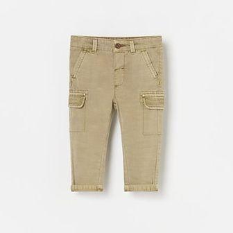 Reserved - Spodnie cargo - Beżowy