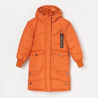 Reserved - Płaszcz z odpinanymi rękawami - Brązowy