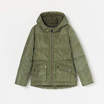 Reserved - Ocieplana kurtka z kapturem - Khaki