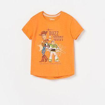 Reserved - T-shirt Disney - Pomarańczowy