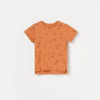 Reserved - T-shirt z napisami - Brązowy