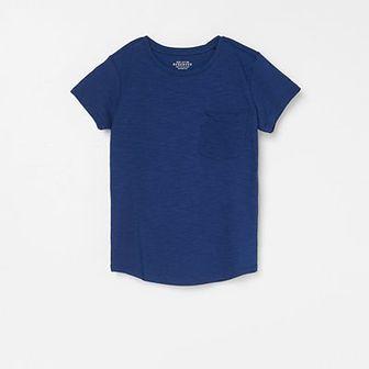 Reserved - T-shirt z kieszonką - Granatowy