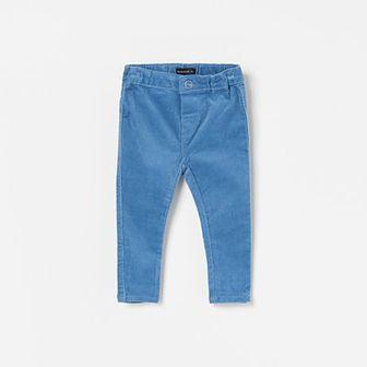 Reserved - Spodnie sztruksowe slim fit - Niebieski