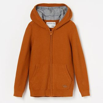 Reserved - Sweter z kapturem - Pomarańczowy