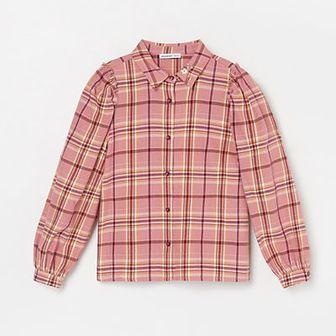 Reserved - Koszula w kratkę - Beżowy