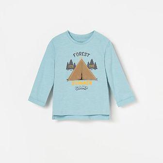 Reserved - Koszulka z namiotem - Niebieski