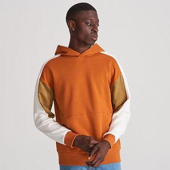 Reserved - Bluza z kapturem - Brązowy