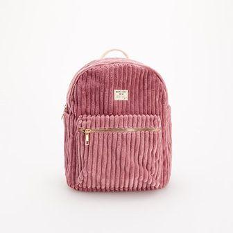 Reserved - Sztruksowy plecak - Różowy