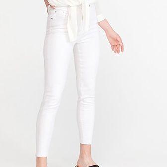 Reserved - Jeansy slim z wysokim stanem - Biały
