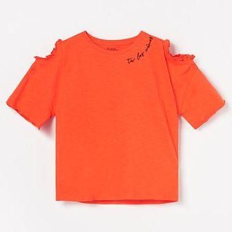 Reserved - Bluza z wycięciami na ramionach - Pomarańczowy