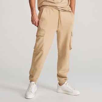 Reserved - Dresowe spodnie cargo - Beżowy