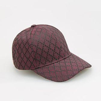 Reserved - Wzorzysta czapka z daszkiem - Bordowy