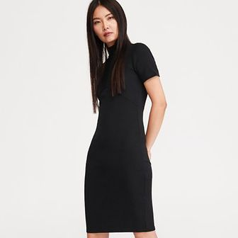 Reserved - Sukienka ze stójką - Czarny