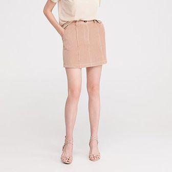Reserved - Sztruksowa spódnica - Beżowy