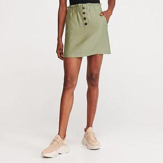 Reserved - Spódnica mini - Zielony