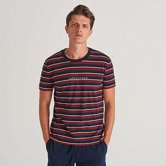 Reserved - Bawełniana piżama z szortami - Bordowy