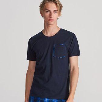 Reserved - Bawełniana piżama z szortami - Granatowy