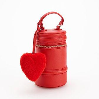 Reserved - Kuferek z brelokiem - Czerwony