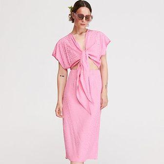 Reserved - Sukienka z wiązaniem - Różowy