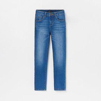 Reserved - Jeansy z nadrukiem z tyłu - Granatowy