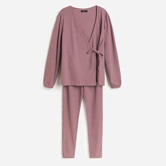 Reserved - Piżama ze spodniami - Brązowy