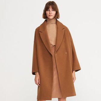 Reserved - Płaszcz z wełną - Brązowy