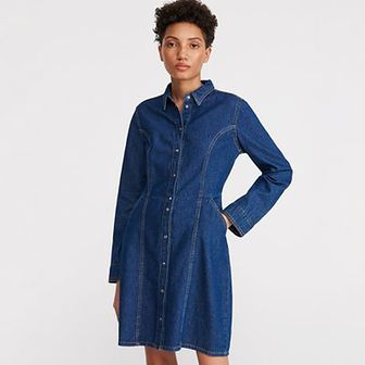 Reserved - Jeansowa szmizjerka - Niebieski