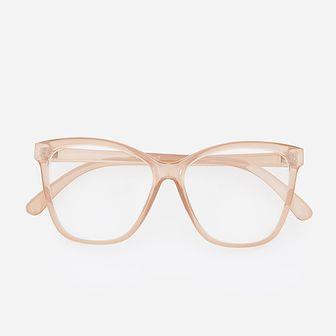 Reserved - Okulary zerówki - Różowy