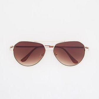 Reserved - Okulary przeciwsloneczne aviatorki - Brązowy