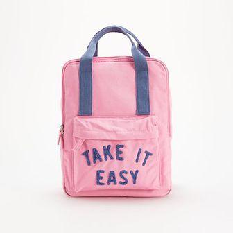 Reserved - Bawełniany plecak - Różowy