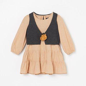 Reserved - Sukienka z kamizelką - Pomarańczowy