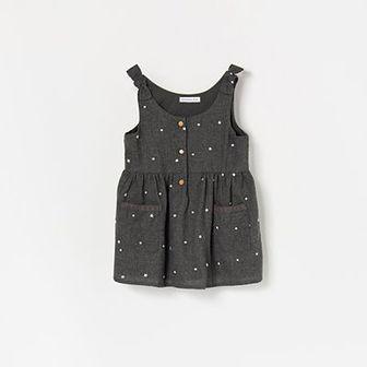 Reserved - Sukienka mini w gwiazdki - Szary