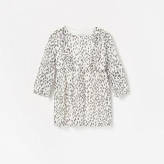 Reserved - Wzorzysta sukienka - Biały