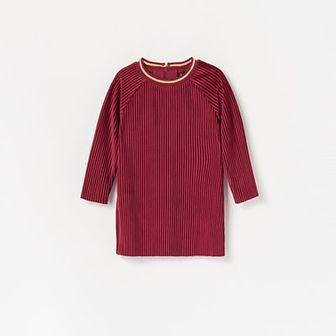 Reserved - Sukienka z prazkowanej dzianiny - Fioletowy