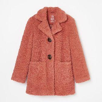 Reserved - Płaszcz ze sztucznego futerka -