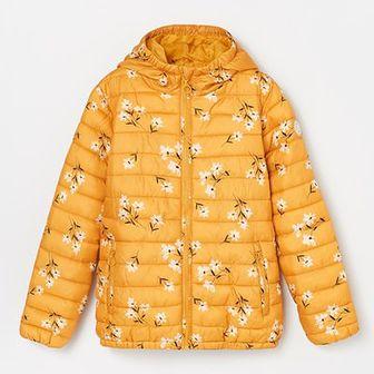 Reserved - Pikowana kurtka w kwiaty - Żółty