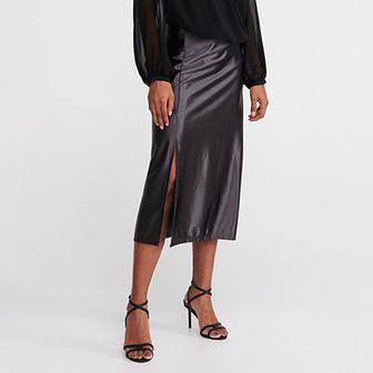 Reserved - Spódnica w kształcie litery A - Czarny