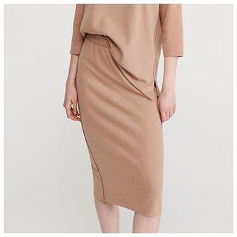 Reserved - Spódnica z elastyczną talią - Beżowy