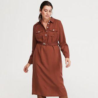 Reserved - Sukienka z Tencelu™ - Bordowy