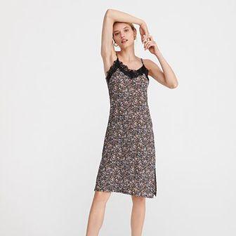Reserved - Bielizniana sukienka - Wielobarwny